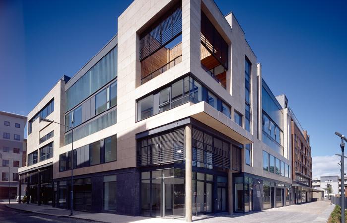 SSG Maxberg® Jura Kalkstein Fassade, Liberty Corner Dublin